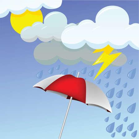 yağmurlu: yağmurlu bir günde Çizim