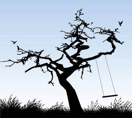 birds in tree: albero