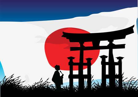 Japanse stijl Stockfoto - 8838881