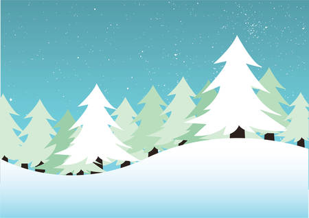 mountain holidays: winter background