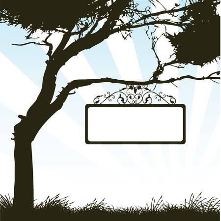 outdoor blank billboard: signboard