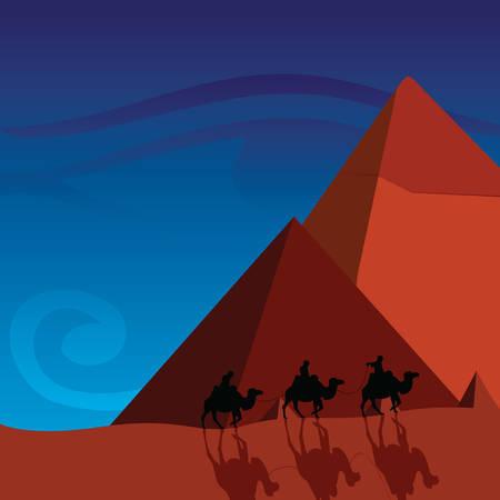 pyramids Stock Vector - 8838837