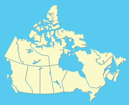 canadian map Stock Vector - 9200246