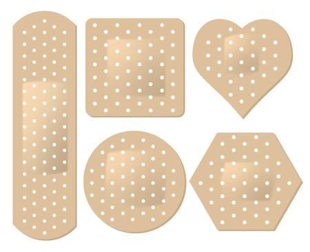 adhesive: conjunto de venda adhesiva Vectores