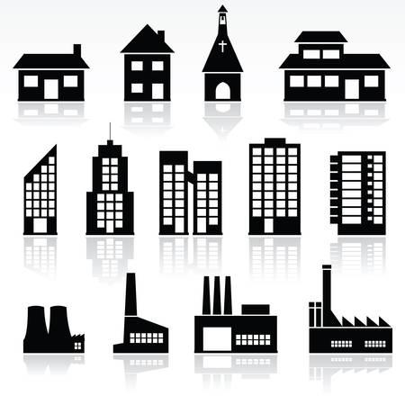 piktogram: budynki