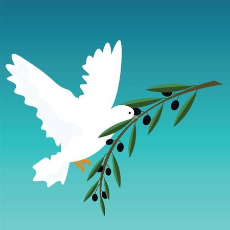 white dove  イラスト・ベクター素材