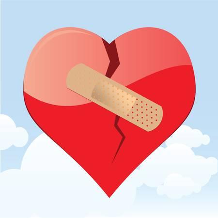 hilfsmittel: Gebrochenes Herz Illustration