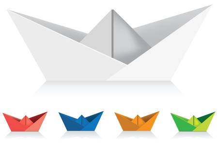 paper ships  イラスト・ベクター素材