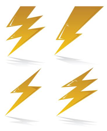 thunder and lightning: lightning symbols