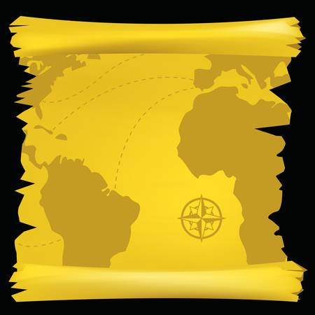 vintage world map Stock Vector - 9312391