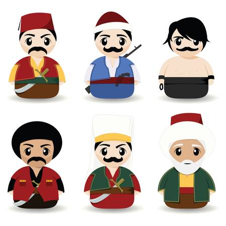 sultano: tradizionali turchi uomini Vettoriali