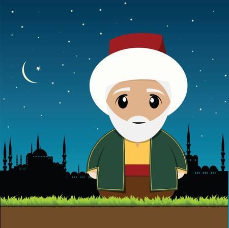 Vieil homme musulman Banque d'images - 10528619