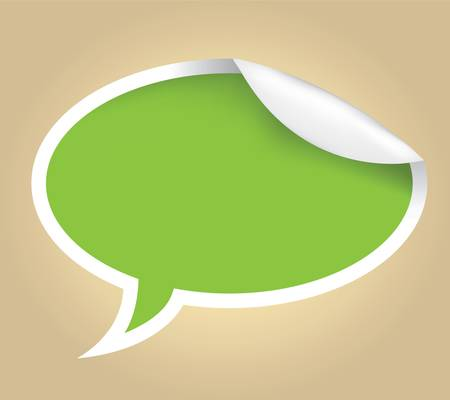 word bubble: sticky speech bubble