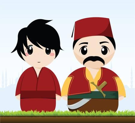 Traditionelle türkische Paar Standard-Bild - 10528617