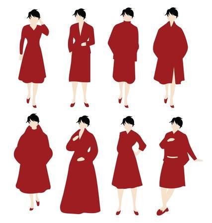 women in red Stock Vector - 10528638