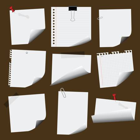 adhesive note: note papers Illustration