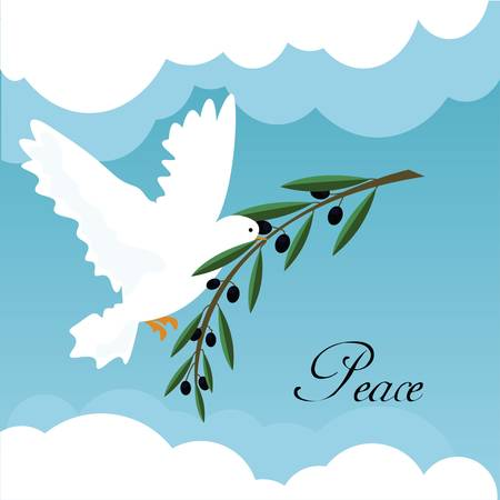 dove of peace: white dove Illustration