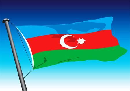 azerbaijani: azerbaijani flag