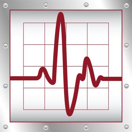 elektronische cardiogram Stock Illustratie