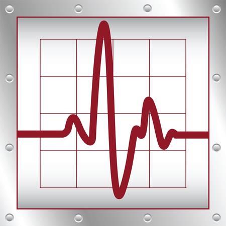 Elektronische kardiogramm Standard-Bild - 10528570