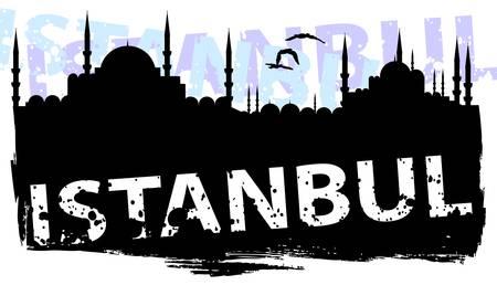 mosque illustration: istanbul