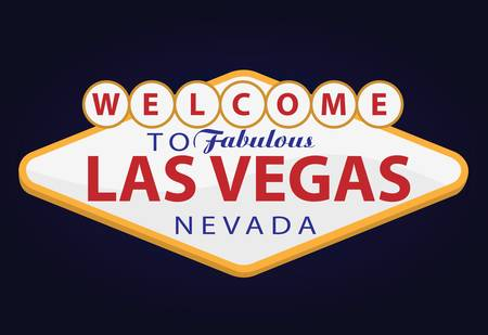 vegas sign: welcome to las vegas Illustration