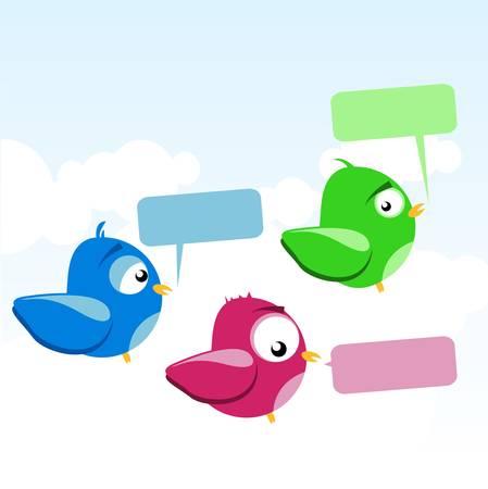 roost: birds Illustration