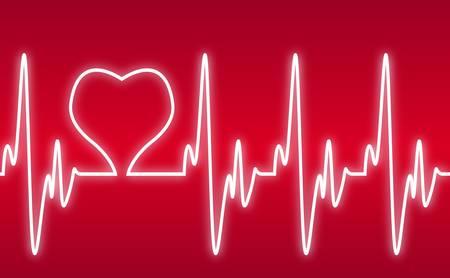 cardiogram: heart on a cardiogram Illustration
