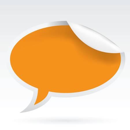 sticky speech bubble Stock Vector - 10922277