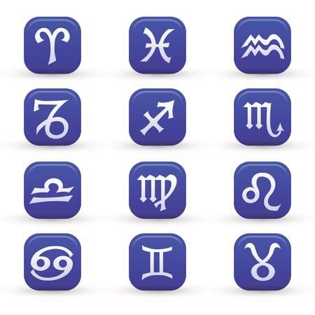 sagittarius: segni zodiacali Vettoriali