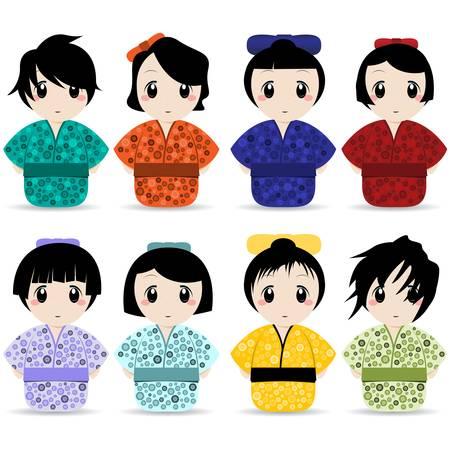 geisha set  Illustration