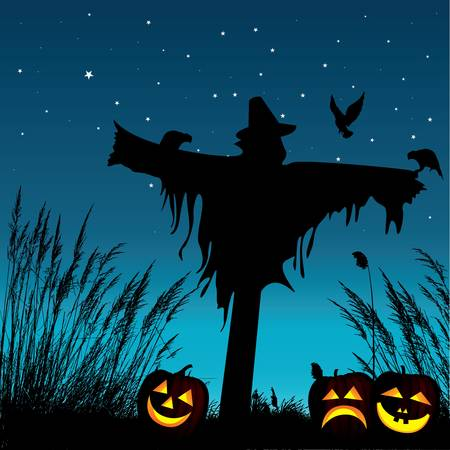 scarecrow: halloween background