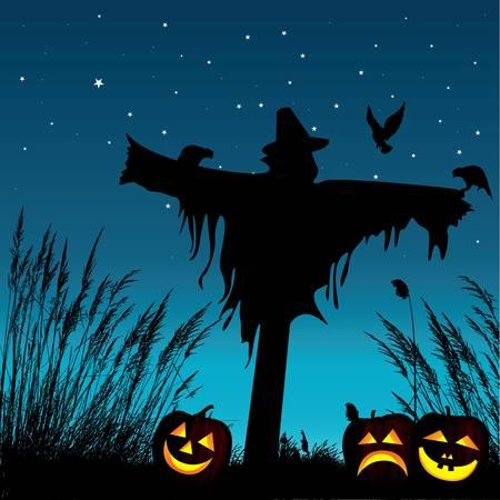 espantapajaros: Halloween de fondo