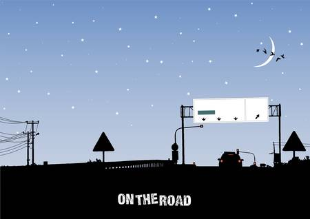 on the road Stock Vector - 11419424