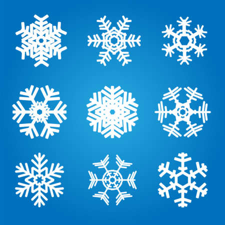 snow crystals: snowflakes Illustration