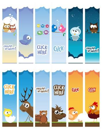 animal web banners Stock Vector - 14039660