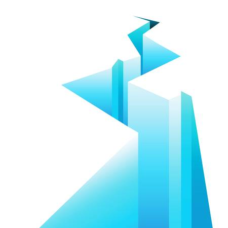 fissure: écart de la glace Illustration