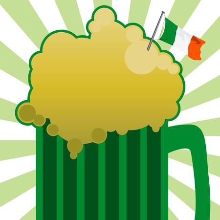 alehouse: green beer Illustration