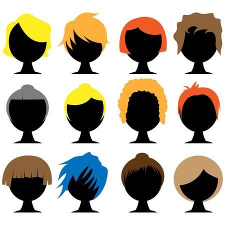 hair styles  イラスト・ベクター素材