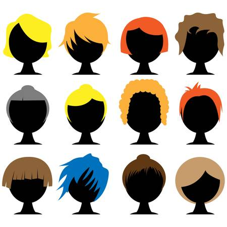 hair color: hair styles Illustration