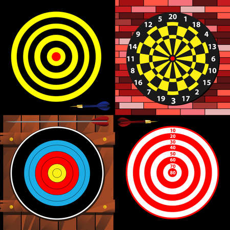 dart board: targets Illustration