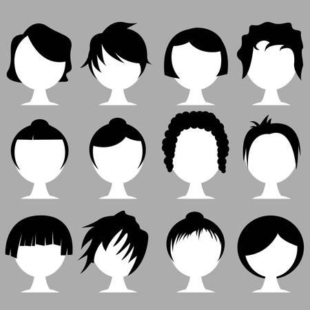 hair styles Illustration