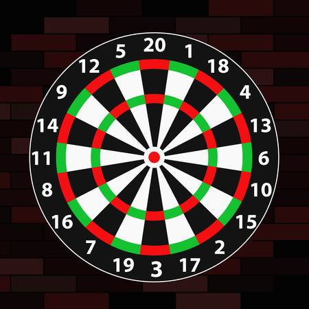dart on target: dart Illustration