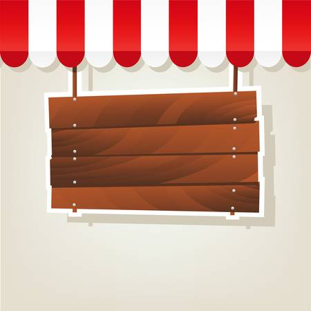letreros: se�al de madera