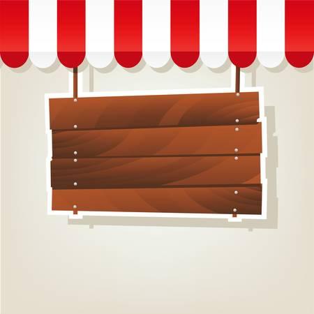 letrero: señal de madera