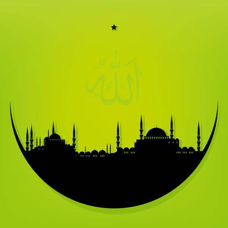 maan met moskee