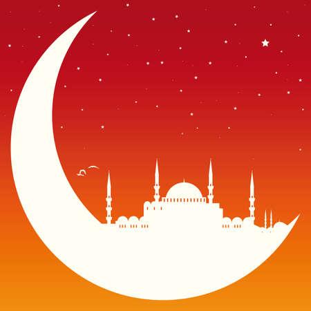 Mond mit Moschee Standard-Bild - 23240559