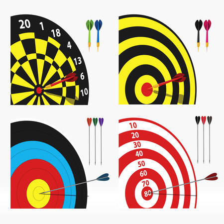 vector set of four different targets Stock Vector - 26766268