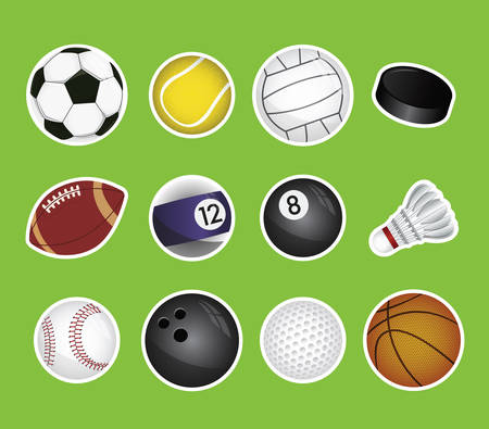 vector set of sport balls Vector