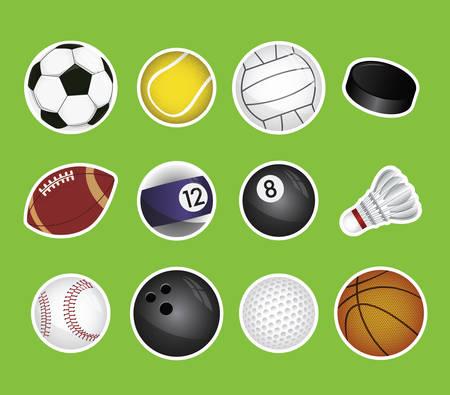 pool ball: vector set of sport balls